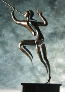 The British Telecom Herald - bronze sculpture