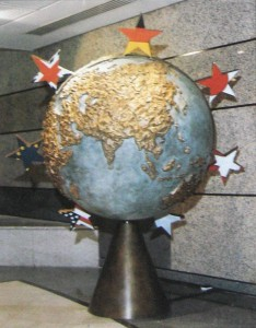 The Globe for LIFFE - sculpture in bronze