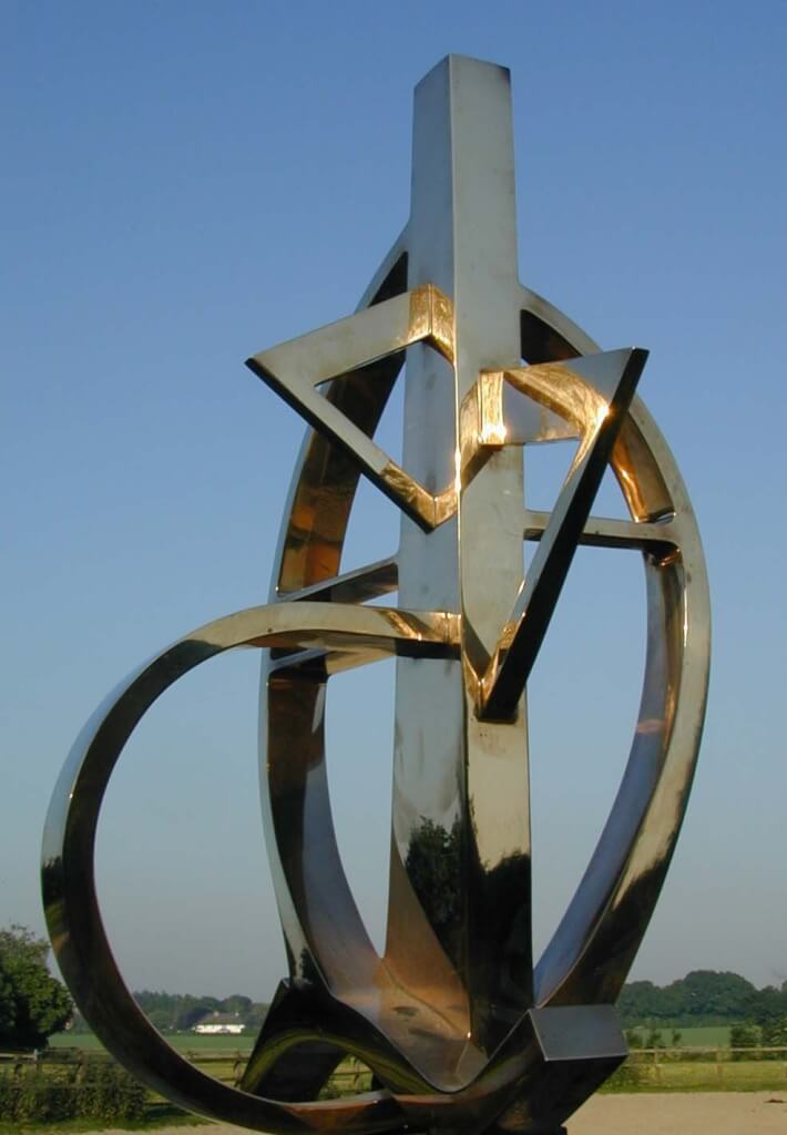 Bronze Sculpture - 'Sterling' 2.1m high. Cast and polished by Susse Fondeurs. Parishighly polished finish