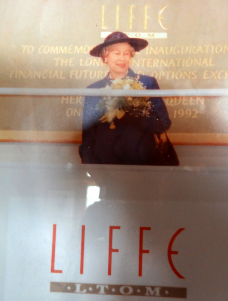 HM THE QUEEN opening LIFFE in 1992