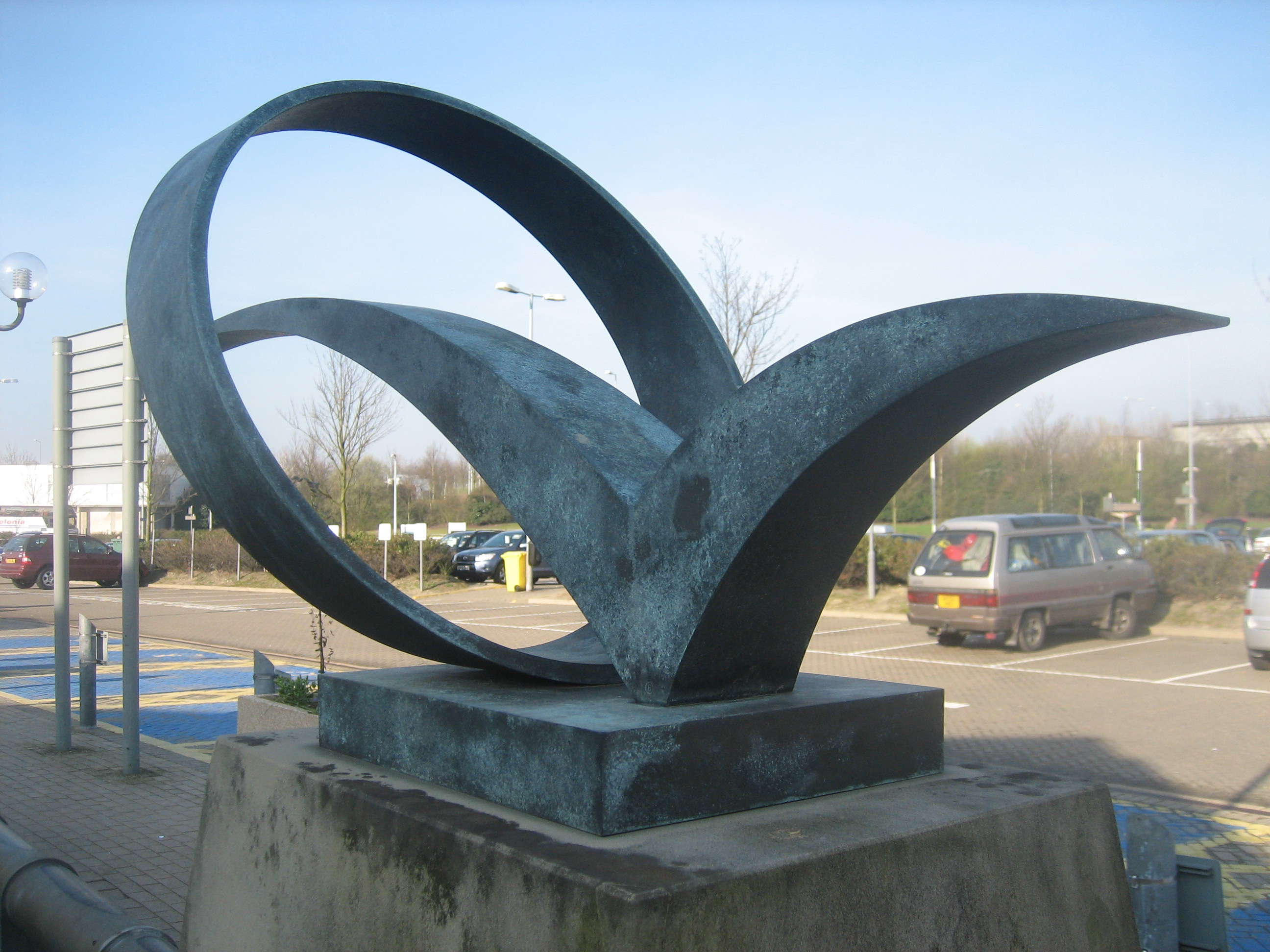 contemporary British sculptor Neil Lawson Baker's bronze to commemorate the opening of the Channel Tunnel