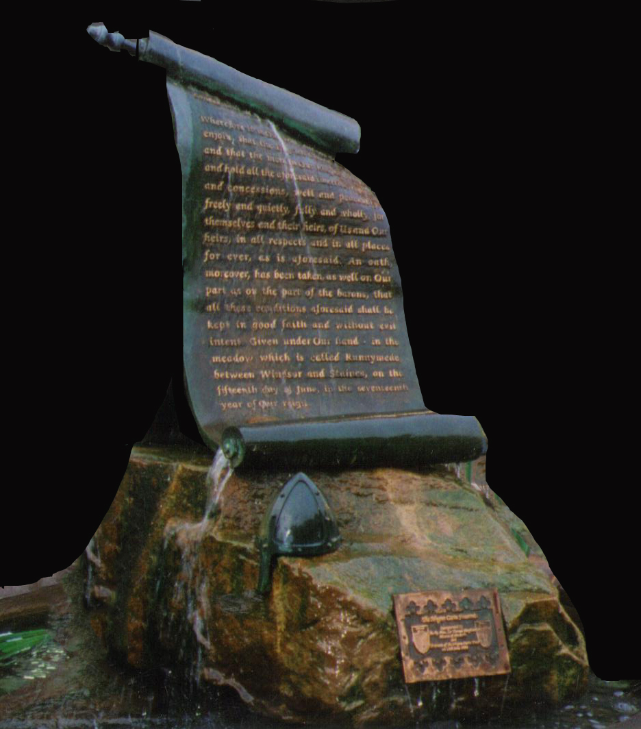 Bronze Sculpture - The Magna Carta Fountain