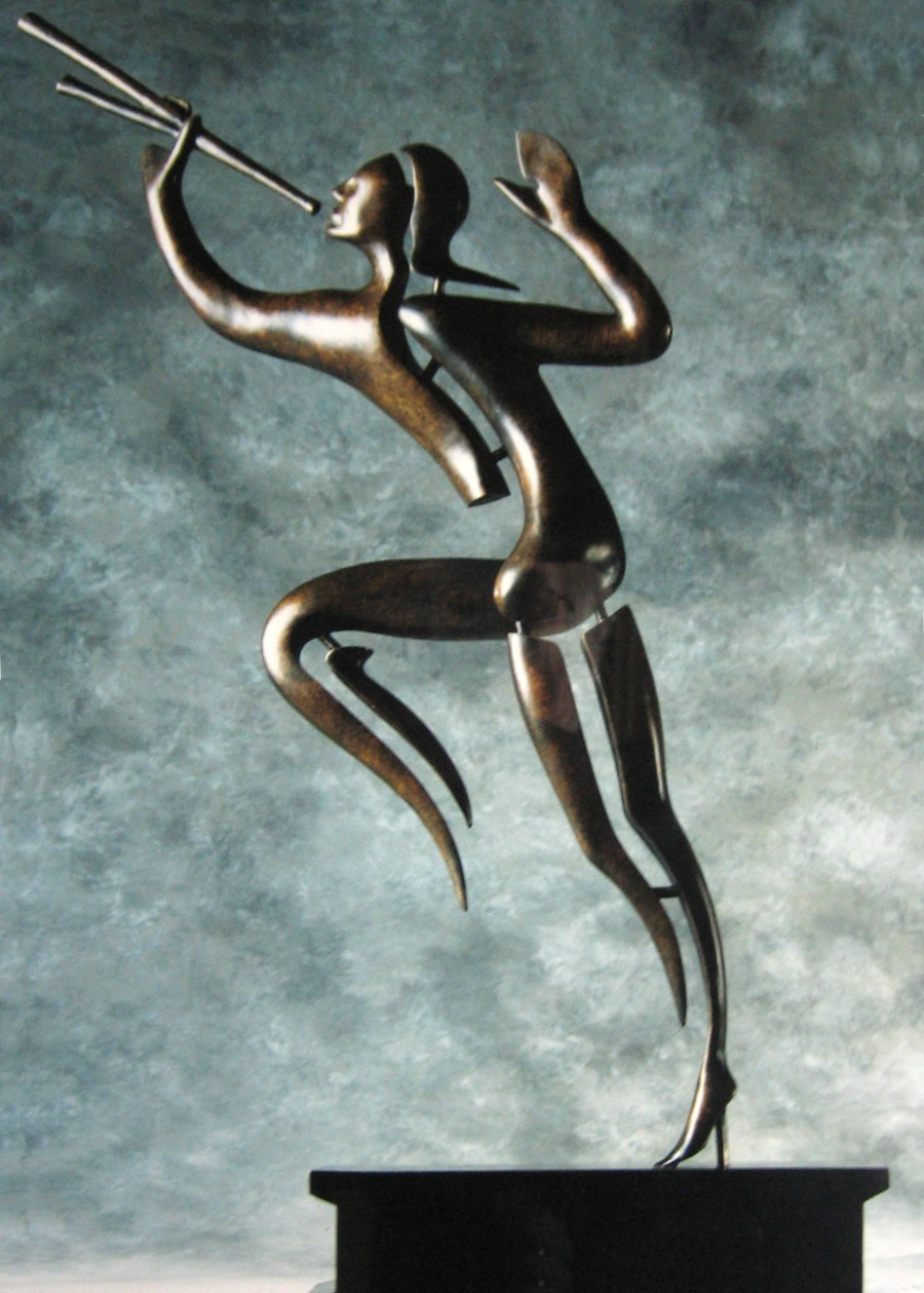Bronze Sculpture - BT - 'The Piper'