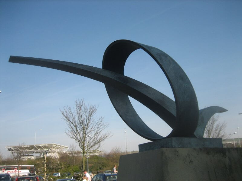 Abstract Bronze Sculpture, for the Opening of the Channel Tunnel