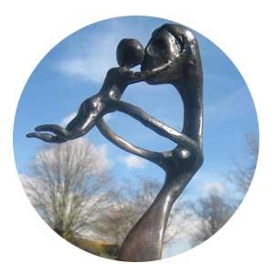 'Tom' a bronze sculpture by contemporary British sculptor Neil Lawson Baker