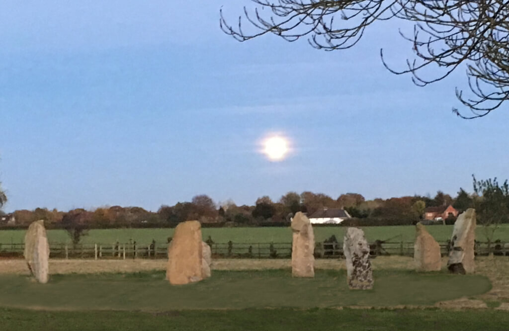 Moon rising over the Stone Circle