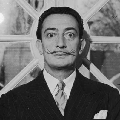 Salvador Dali self-portrait photograph
