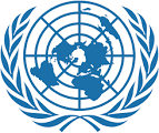 UN Logo in blue on white